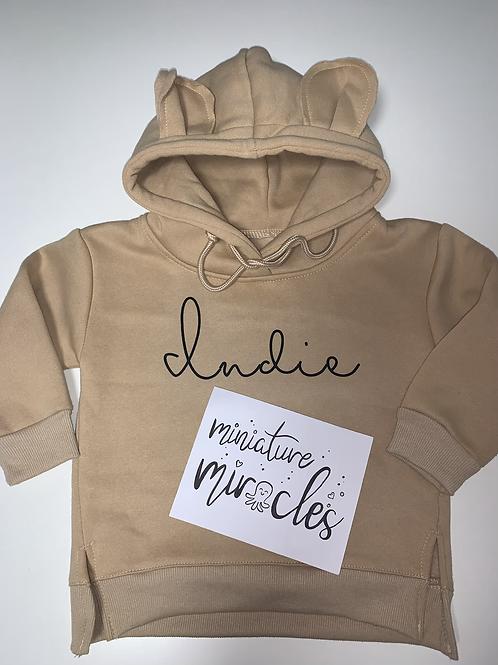 Personalised teddy hoodie