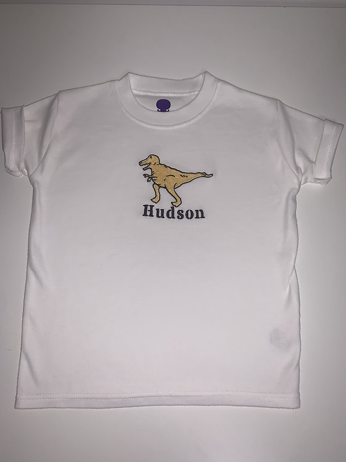 Embroidered dino top