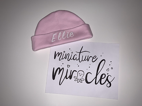 Personalised premature hat