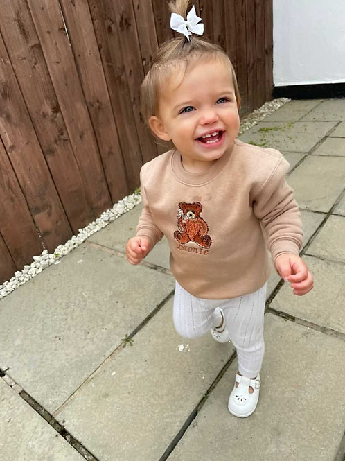 Embroidered Teddy jumper