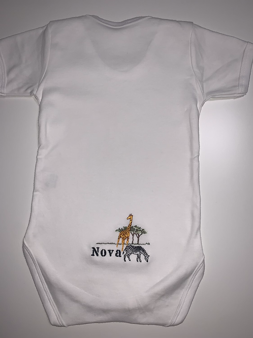 Embroidered animal vest