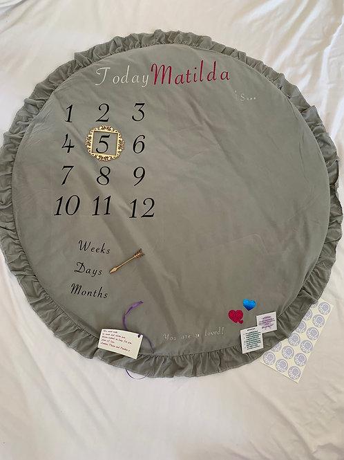 Personalised baby milestone mat