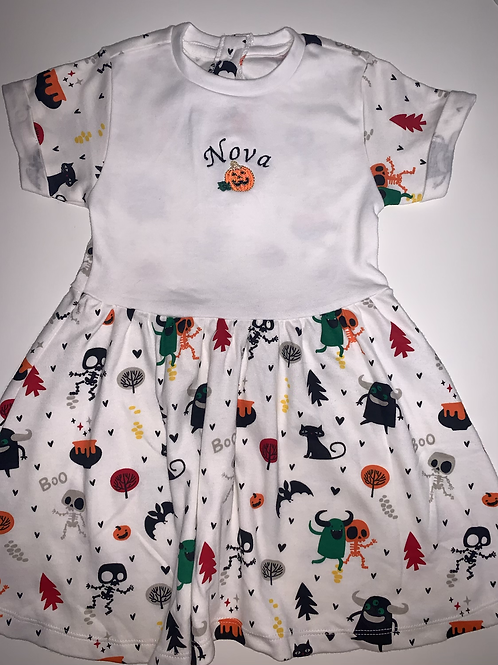 Embroidered Halloween Dress