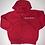 Thumbnail: Red zip up hoodie