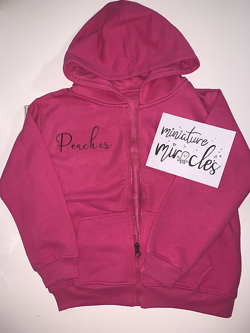 Pink zip up.