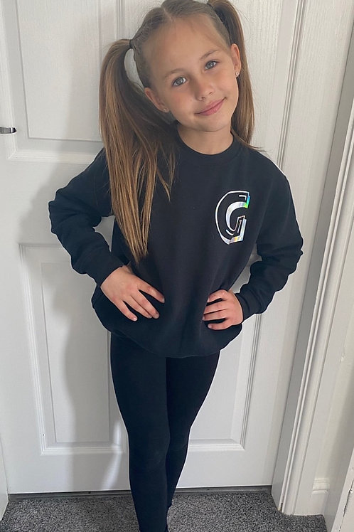 personalised black jumper