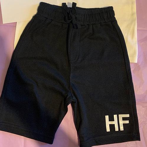 Personalised black shorts