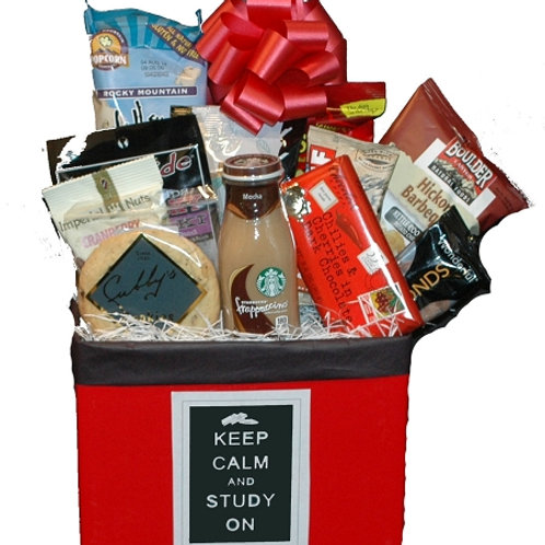 Keep Calm and Study On College Student Care Package and gift basket
