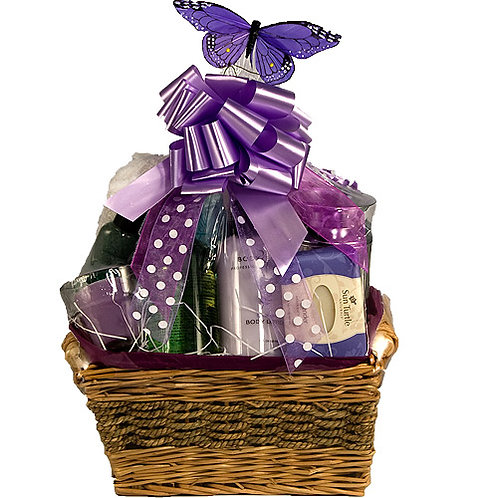 Lavender Relaxing Bath Gift Basket