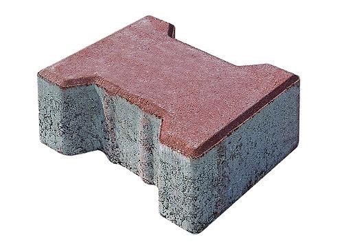 8 lik Beton Kilit Taş Kırmızı