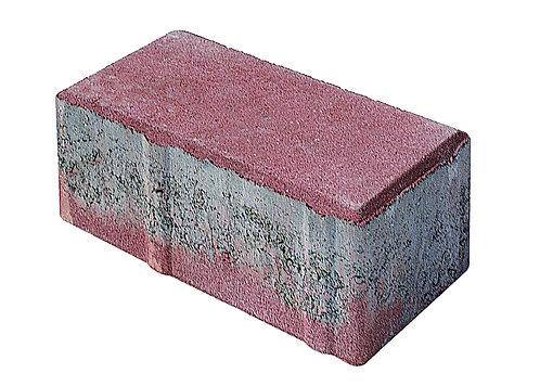 8 lik Beton Düz Taş Kırmızı