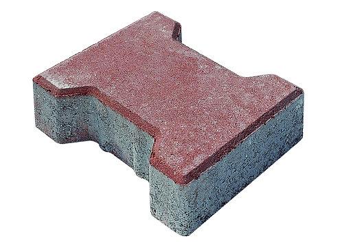 6 lık Beton Kilit Taş Kırmızı
