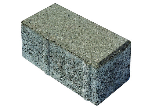 8 lik Beton Düz Taş Gri