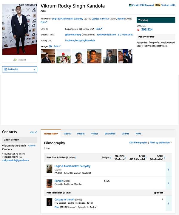 Rocky Singh Kandola IMDB Actor