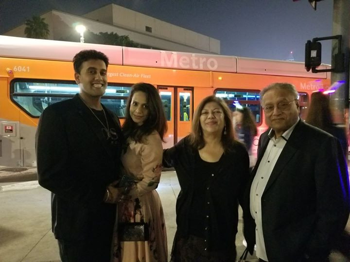 Family in Downtown LA near the Staples Center for NYE