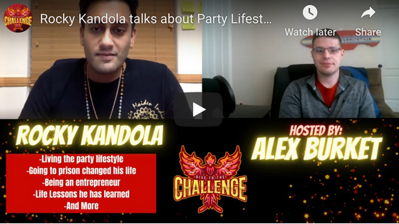Live on the Rise to the Challenge PodCast with Alex Burket