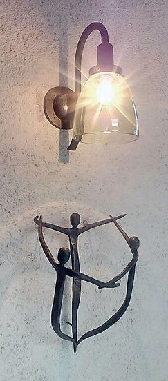 玄関 照明 アイアンオブジェ