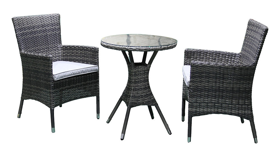Milford 3Pc 60cm Round Dining Setting