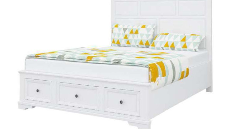 Vienna King Bed with Storage at Footboard - Set