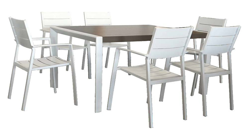 Oxford 7PC Dining Setting w/Slat Chairs