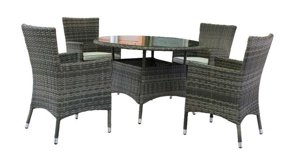 Milford 5Pc 110cm Round Dining Setting