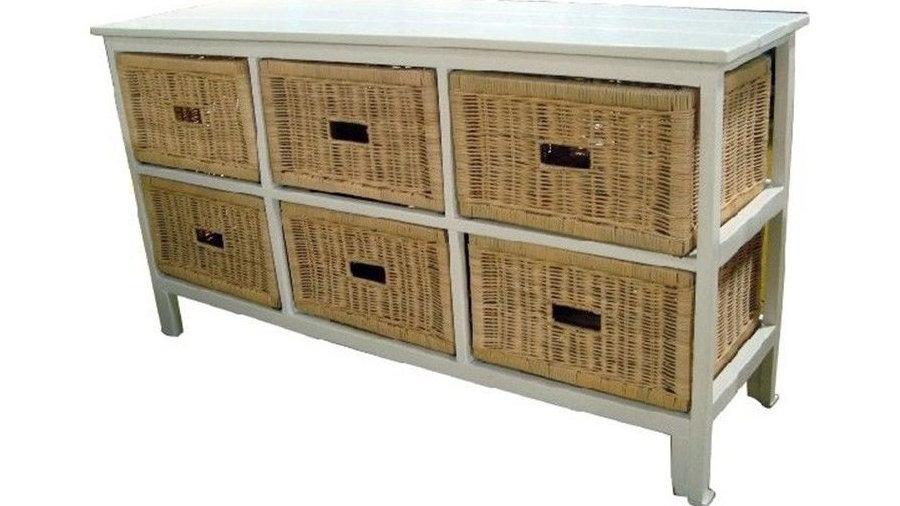 Bondi 6 Drawers Wide Cabinet