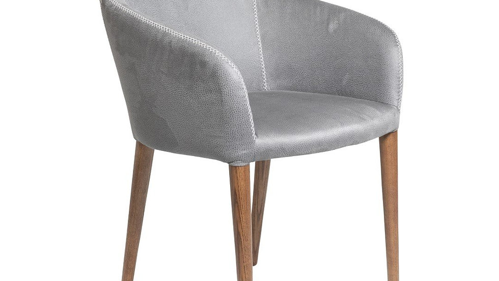 Azzura Dining Chair Washed Dark Grey
