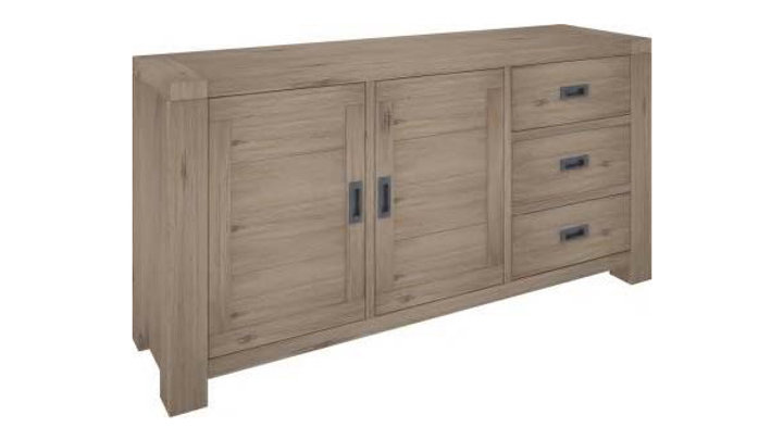Oyster Bay Sideboard 3 Drawers, 2 Doors