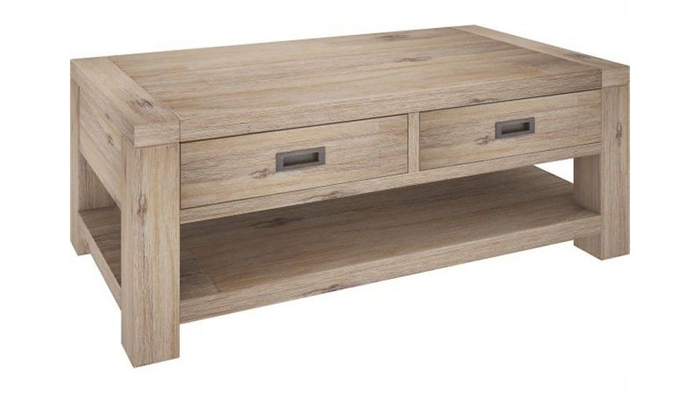 Oyster Bay Coffee Table 2 Drawers & Shelf