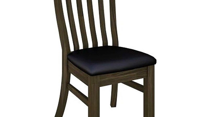 Darwin Dining Chair with FABRIC Seat Brushed & Rou