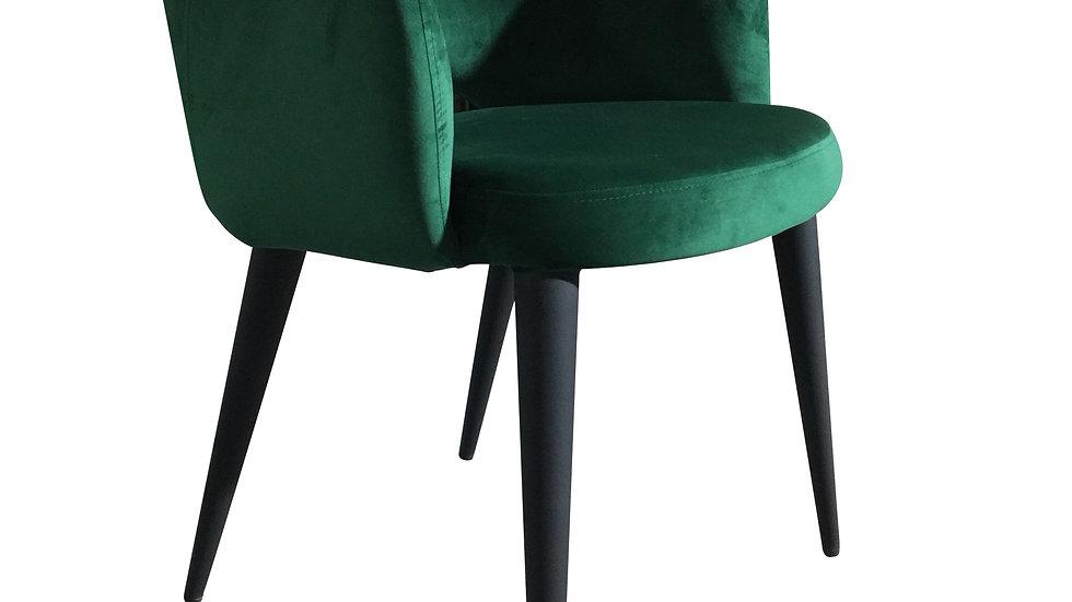 Terrazo Dining Chair Green Velvet
