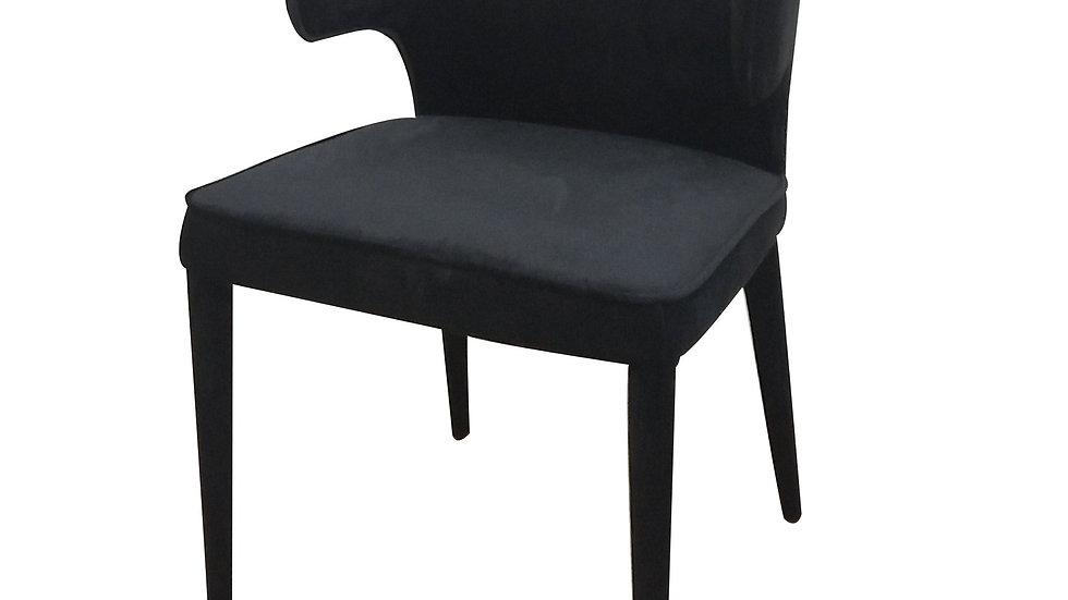 Portofino Dining Chair Black Velvet