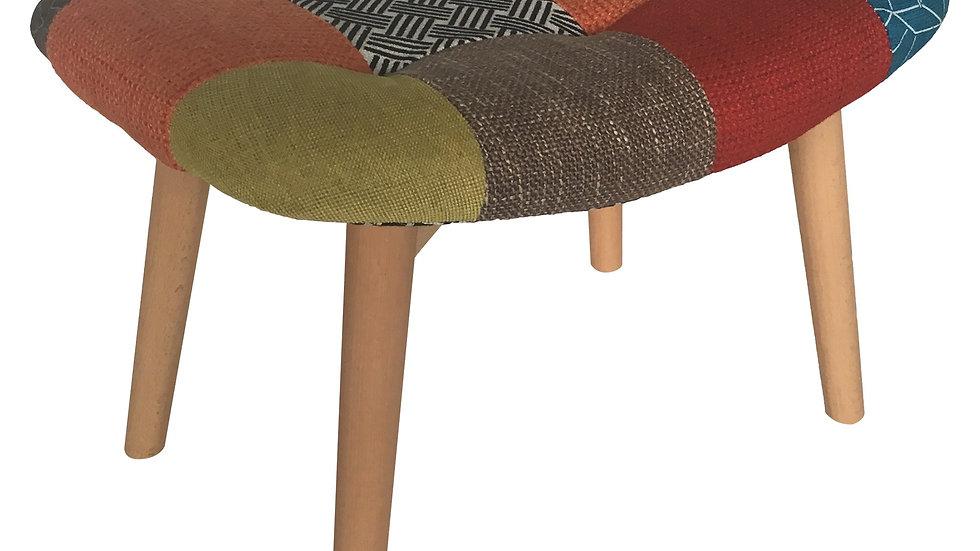 Darlington Ottoman - Multi Colour Patchwork