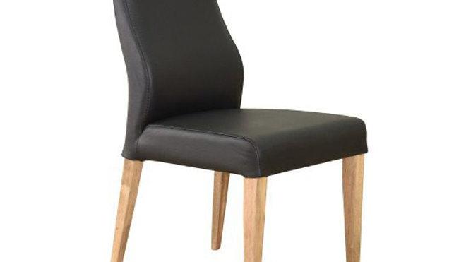 Eva Dining Chair Leather - Black
