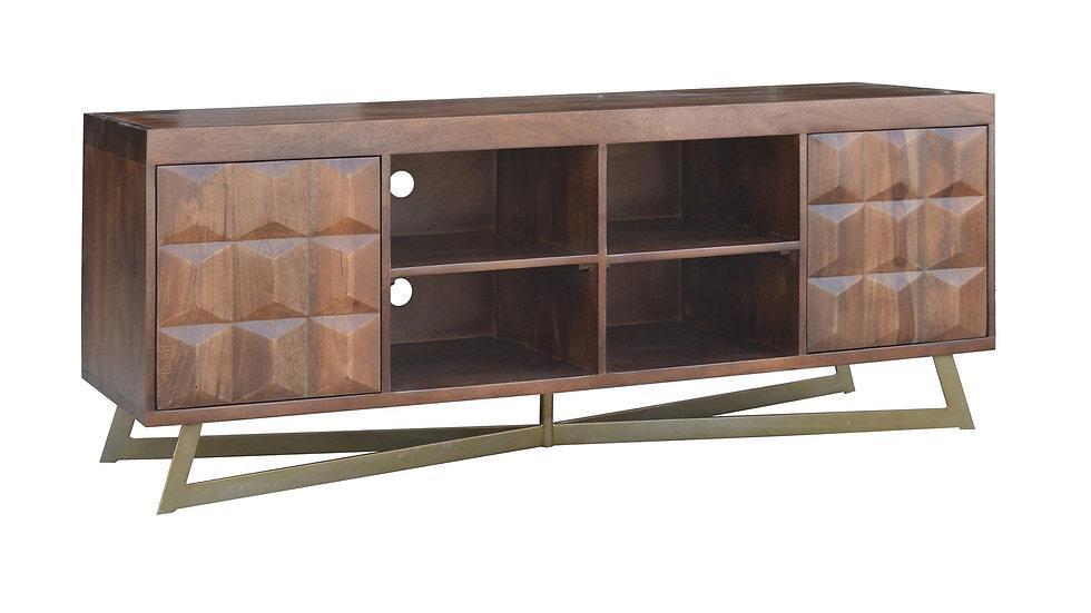 Jacques TV Unit 2 Doors with Open Shelf