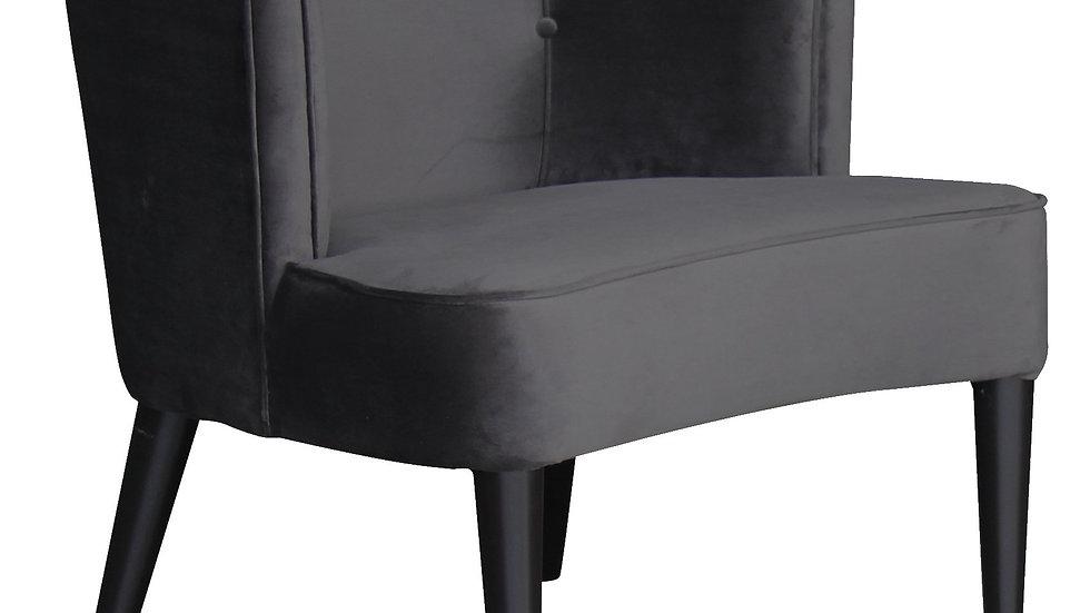 Sixties Chair Dark Grey Velvet