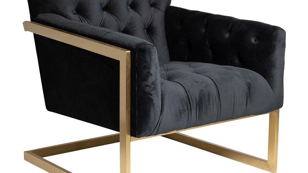 Gable Chair Black/Gold