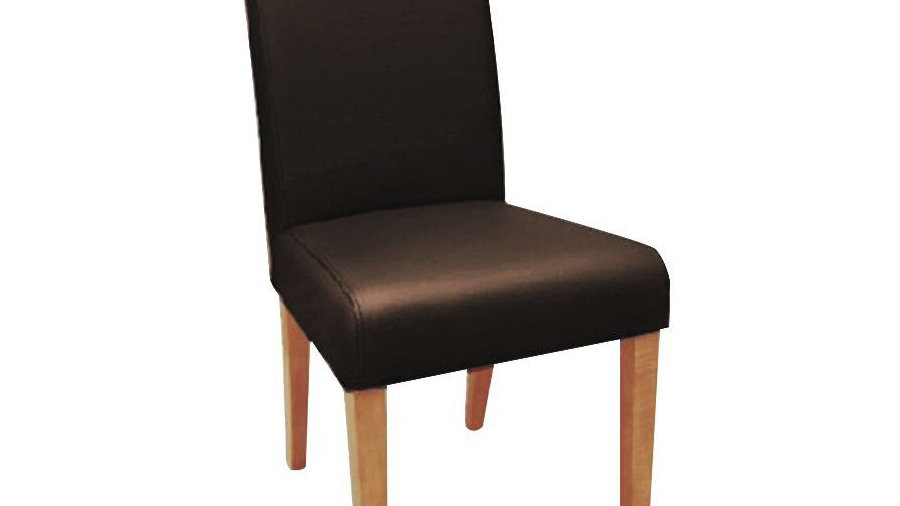 Toronto Leather Dining Chair-Top Grain Leather (Light Legs)