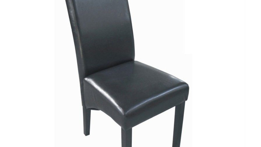 Amalfi Dining Chair-Brown PU (Dark Legs)