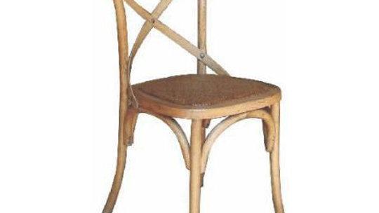 Barista Cross Back Chair - Rattan Seat