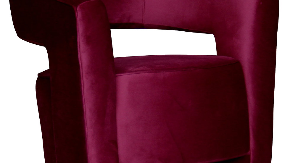 Paloma Swivel Chair Maroon