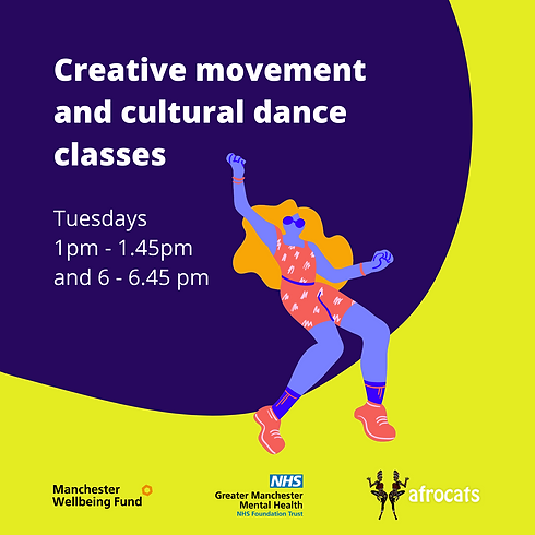 Weekly Creative movement and cultural dance sessions