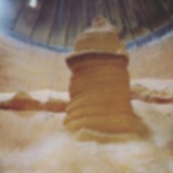 Coeur de silo chauffé. Problème d'aération