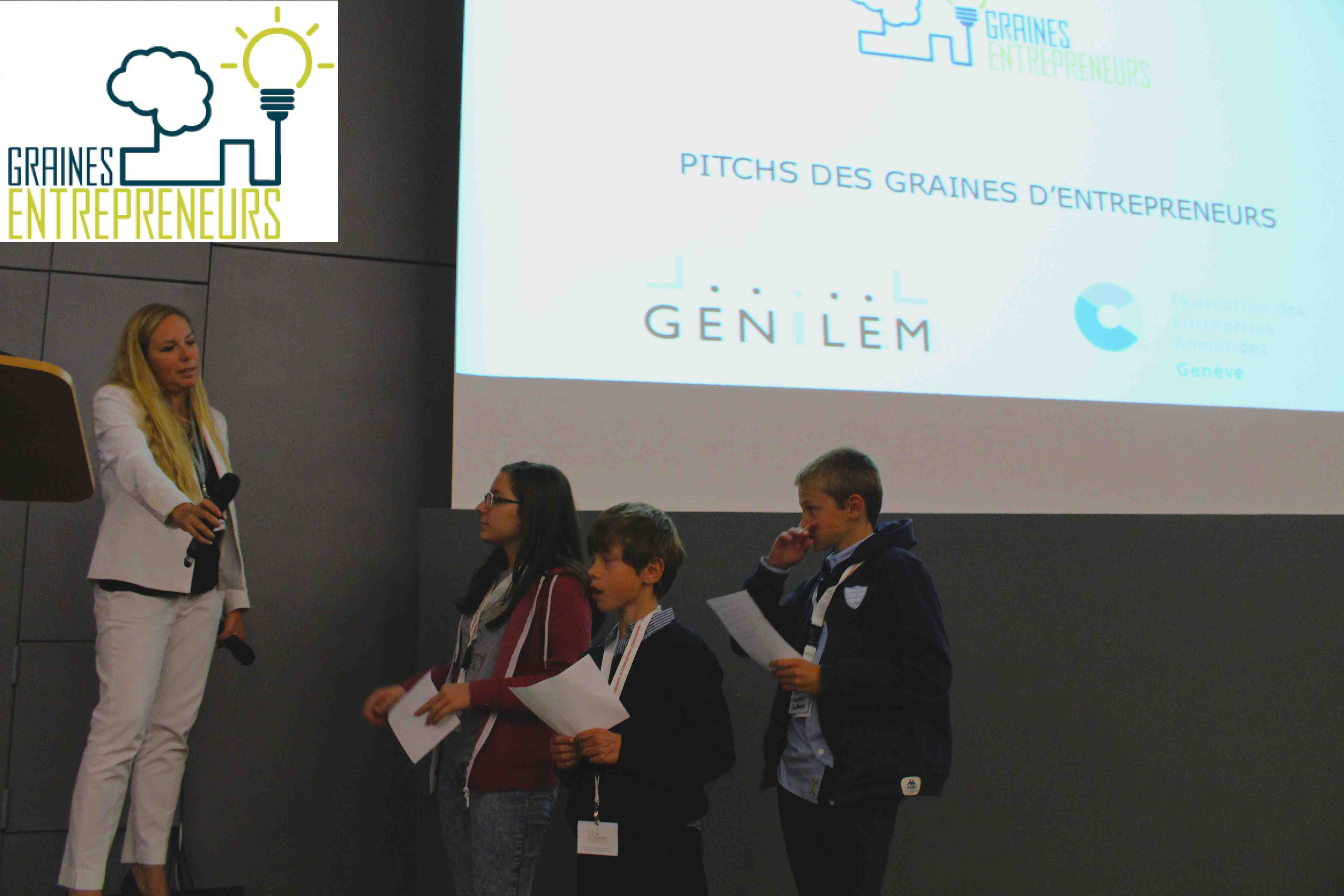 Graines d entrepreneurs Junior startup day genilem FER geneve coach entrepreneuriat innovation enfan