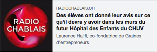 futur hôpital enfants CHUV graines d entrepreneurs innoaton entreprenariat esprit d entreprendre