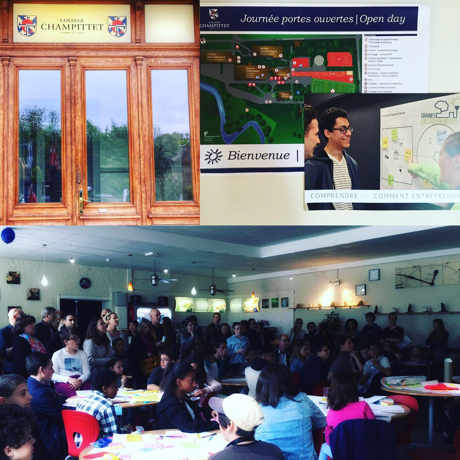 Junior startup day Graines Entrepreneurs CVCI Genilem instagram champittet atelier entrepreneur ecol
