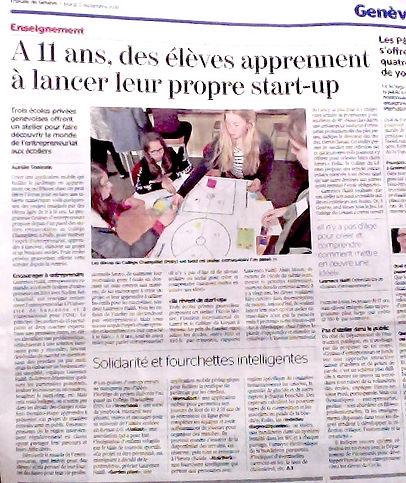 Cours d'entrepreneuriat pour les enfants juniors ados à l'école Graines d'Entrepreneurs Genève Vaud