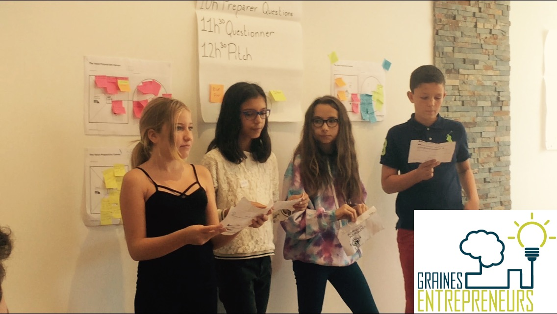 Graines d entrepreneurs junior startup day programme  entrepreneuriat innovation pitch ados jeunes e