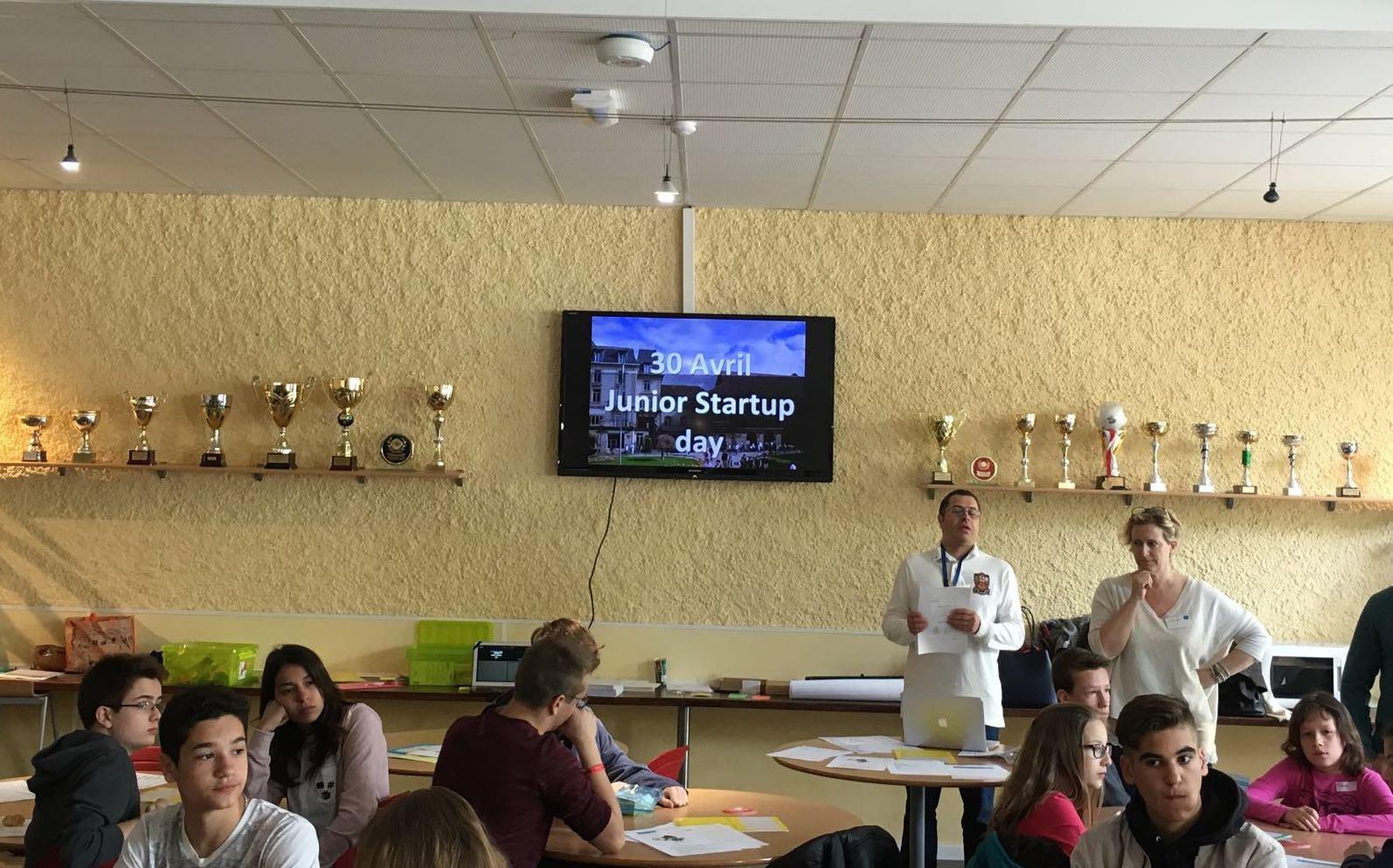 Junior startup day Graines Entrepreneurs CVCI Genilem accueil equipe atelier entrepreneur ecole ados