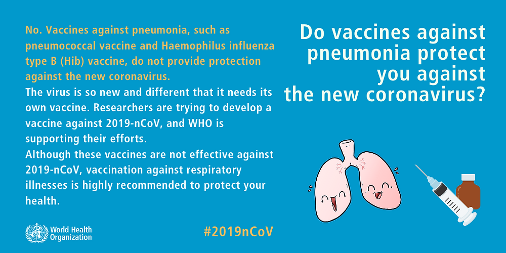 WHO infographic - COVID-19 and pneumonia vaccines